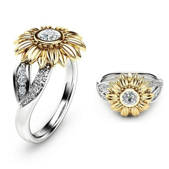 19cdd9943 Jewelry | Sterling Silver Plated Sunflower Ring | Poshmark